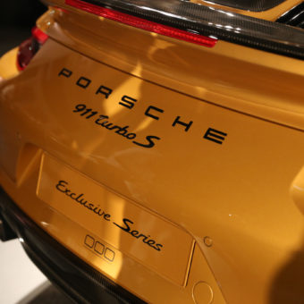 Gold Porsche 911 Turbo S Exclusive Series